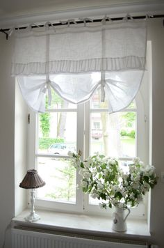 Bedroom Window Treatment. White, Grey, Black, Chippy, Shabby Chic, Whitewashed, Cottage, French Country, Rustic, Swedish decor Idea. ***Pinned by oldattic ***. #shabbychicbedroomsgrey