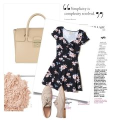 """""""Dress"""" by pocok01 ❤ liked on Polyvore featuring Furla, Hollister Co., La Mer, Gap, dress and makeup"""