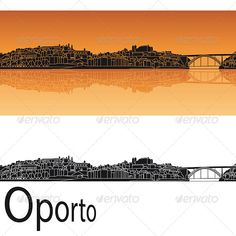 Oporto Skyline in Orange Background  #GraphicRiver         Oporto skyline in orange background in editable vector file     Created: 19April13 GraphicsFilesIncluded: LayeredPNG #JPGImage #VectorEPS Layered: Yes MinimumAdobeCSVersion: CS Tags: architecture #backgrounds #black #building #city #cityscape #destination #downtown #europe #