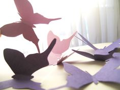 Super Simple paper butterflies beautiful and ready to go!