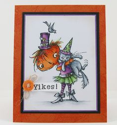 Yikes by melindagleiss, via Flickr - Once again Melinda's coloring is just stunning on these #Halloween images by #Stampendous