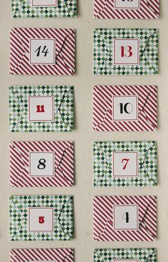 Downloadable printable advent calendar by Lifestyle Crafts. Cut with scissors or coordinating cutting dies. #printable #christmas #adventcalendar