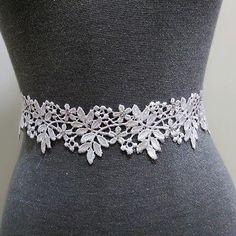 Rhinestone floral lace bridal sash, Wedding sash, Crystal sash, beaded sash, white sash belt, Bridal belt, Wedding belt, Rhinestone belt  by MagicSashAccessories on Etsy