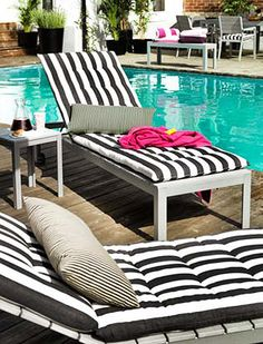 black and white patio furniture. ikea outdoor furniture 2012 loving the stripes black and white patio