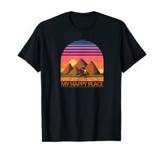 Amazon.com: Horse Riding Retro Cowgirl or Cowboy, Equestrian Galloping T-Shirt: Clothing