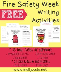 FREE Fire Safety Writing Activities