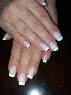 intense white french manicure