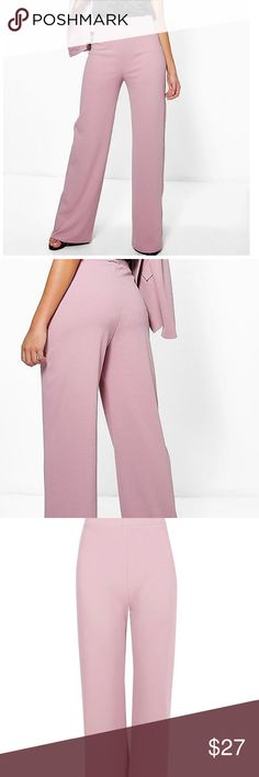 NEW EXPRESS PINK WIDE LEG MID RISE SOFT PANT PANTS SIZE 6