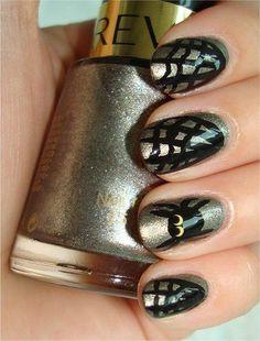 DIY halloween nails: DIY Halloween nail art : DIY Halloween nail Spider & Web Nails