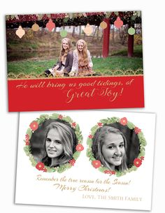 Christmas Card Photo Template X Flat Out Sided JOY CHALKBOARD - Christmas card templates for photographers 2