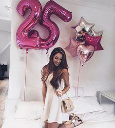 ideas birthday celebration ideas for her love 25th Birthday Parties, Birthday Goals, Birthday Party Outfits, Happy Birthday Me, Birthday Bash, Birthday Celebration, Girl Birthday, Birthday Ideas, Ballon Helium