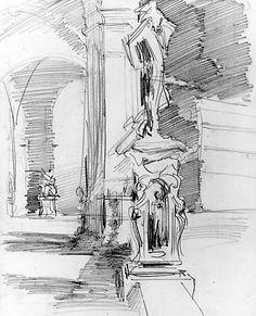 John Singer Sargent - Loggia dei Lanzi, Florence