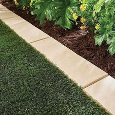 Makeover your front and backyard with a lawn border. The landscape edging can be installed easily in all soil conditions-recommend using a rubber mallet. You can easily cut the lawn border to the size you need so that you may create a custom length for yo Landscape Borders, Landscape Plans, Garden Borders, Garden Paths, Lawn And Garden, Landscape Designs, Garden Edge Border, Garden Boarders Ideas, Garden Edging Ideas Cheap