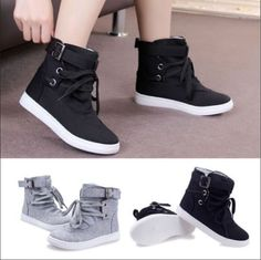 Womens New Hot Fashion Casual All-match Comfortable Strap Sneakers Shoes A85