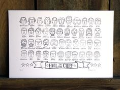 hail to the chief letterpress print: a good way to help you memorize the presidents