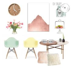Pastel tea time by kelschiao on Polyvore featuring interior, interiors, interior design, home, home decor, interior decorating, Ciel, Martha Stewart, NDI and Pillow Decor