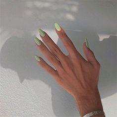 Natural Acrylic Nails, Summer Acrylic Nails, Best Acrylic Nails, Acrylic Nails Green, Pastel Color Nails, Gradient Nails, Summer Nails, Nail Ideas For Summer, One Color Nails