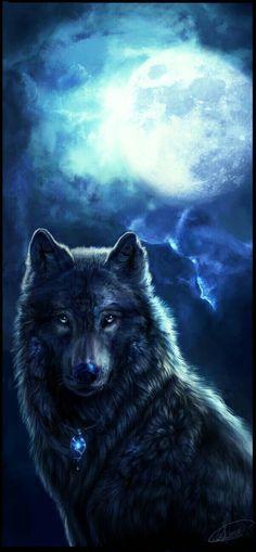 Beautiful Art Wolf