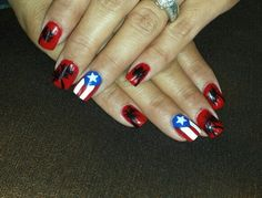 Puerto rican flag nails fun things ive done pinterest puerto rico nail design puerto rican flag palm trees prinsesfo Gallery