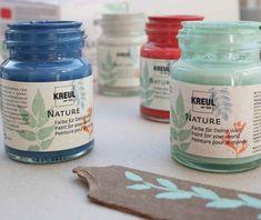 KREUL Nature Set DIY-Farbe nachhaltig rot blau grau hellgrün Blue Grey, Sustainability, Colors