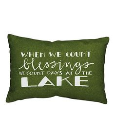 'Blessing At the Lake' Throw Pillow
