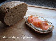 healthy icelandic rye bread or Rúgbrauð.