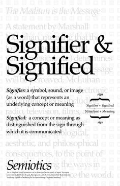 Signifier and Signified – Poster