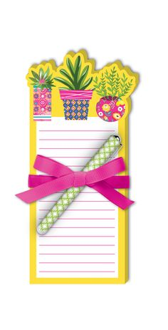 This adorable lined notepad set makes note-taking, shopping lists and more extra enjoyable with a fun die-cut notepad and colorful ink pen to match. Includes yellow and pink succulents die-cut notepad and green geometric-design ink penImported Toddler Flower Girl Dresses, Lace Flower Girls, Lace Flowers, Pink Succulent, Unique Prom Dresses, Mail Art, Geometric Designs, Frames On Wall