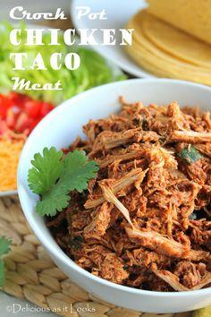 Low FODMAP - Crock Pot Chicken Taco Meat  & Low FODMAP - Taco Seasoning