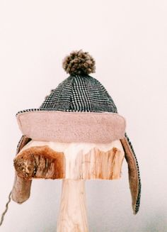 Lovely caps of recycled wool