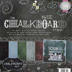 "Chalkboard Paper Stack 12""x12"" to use for all your chalk projects."