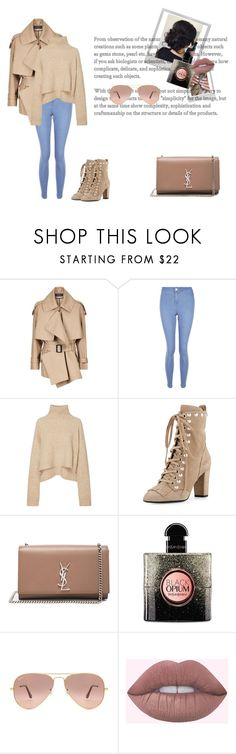 """""""Sophie - Paris 02.27."""" by noura259 ❤ liked on Polyvore featuring Burberry, New Look, Giuseppe Zanotti, Yves Saint Laurent, Polaroid and Ray-Ban"""
