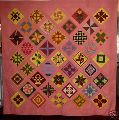 170 years in a blanket chest in PA. Friendship Quilt .. read discription