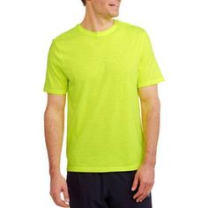 Athletic Works Men's Active Tee, Size: Small, Yellow