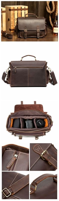 Leather Camera Bag, DSLR Carry Leather Case, Camera Shoulder Bag MS035 Leather Camera Bag, Leather Briefcase, Leather Bags, Dslr Camera Bag, Camera Backpack, Valentine Day Gifts, Christmas Gifts, Valentines, Monogram Logo