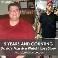 Transformation Tuesday: David's Masive Weight Loss Story- Some motivation for you to inspire YOU and your life- What diet and exercise changes can do!