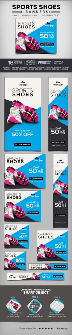 Online shoes shopping banners Template PSD | #shoeswebbanners #shoesbanners #webbanners | Buy and Download: http://graphicriver.net/item/online-shoes-shopping-banners/10024615?ref=ksioks