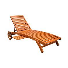 Chaise longue kingsbury bois gris rona notre for Chaise longue chilienne bois