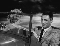 Cary Grant and Marilyn Monroe go for a joyride in Monkey Business (1952).