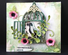 ideas with tim holtz bird cage cards and tags - Google Search