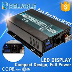 225.99$  Watch here - http://ali68m.worldwells.pw/go.php?t=1000001973309 - LED digital display high efficiency 24v to 220v 3000w solar power inverter pure sine wave off grid dc to ac voltage converter