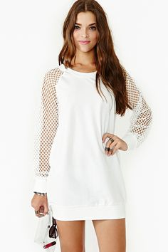 Game Changer Dress in White