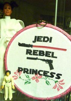 Princess Leia Star Wars Cross Stitch Pattern PDF - Instant Download