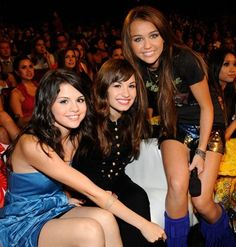 Selena, Demi & Miley(: Friends through Disney(: Demi actually looks so young here :o