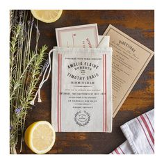 Love this idea for wedding invitation & brand package