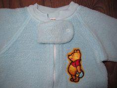 29cc867564 Vintage 80s Infant Baby Winnie The Pooh 1 PC Sleeper Pajamas Heavy 6 Months