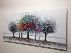 Konstlagret.dk - Kunst & Malerier - Maleri kunst | AlberoColorate Multo | 140x65cm