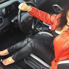 What happened to the warm weather? Had to break out the leather....Happy FriYAY!!! ❤️🖤 #leatherjacket #leatherpants #louboutinheels #louboutin #louboutinworld #ladypeep #peeptoe #peeptoeheels #ootd #casualfriday #toecleavage #toes #highheels #highheelseveryday #drivinginheels #driversseat #heelgasm #heelporn #heellover #shoejunkyxo
