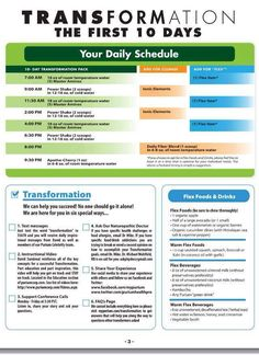 The schedule for the ten day transformation...  This has been so hard but worth it