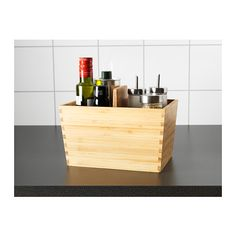 Possible great option for table top  VARIERA Box with handle  - IKEA